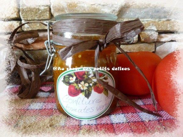 Je suis fan de cette confiture très particulière mais vraiment bonne. Ingrédients pour 2 pots moyens: 500g de tomates vertes (commençant tout juste à mûrir), 500g de sucre semoule, le jus d'1/2 citron, 1 cuil.c de cardamome moulue. Préparation: 1) Laver...
