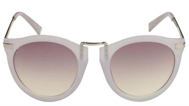 Vita solglasögon från Gina tricot, 79 kronor