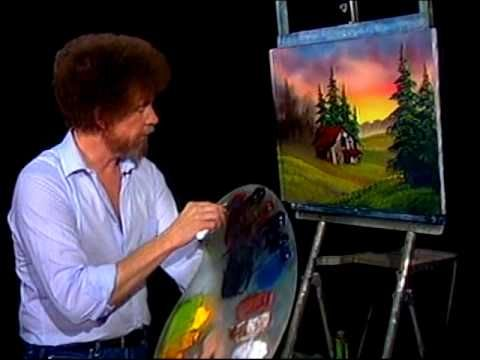 Bob Ross - Painting Cabin at Sunset - Bob Ross Fans