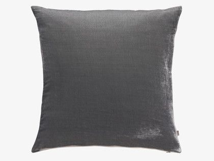 REGENCY 45 x 45cm grey velvet cushion