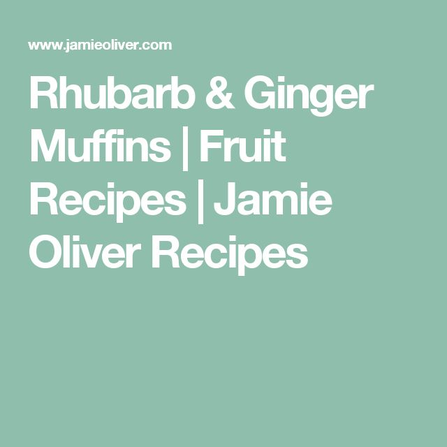 Rhubarb & Ginger Muffins | Fruit Recipes | Jamie Oliver Recipes