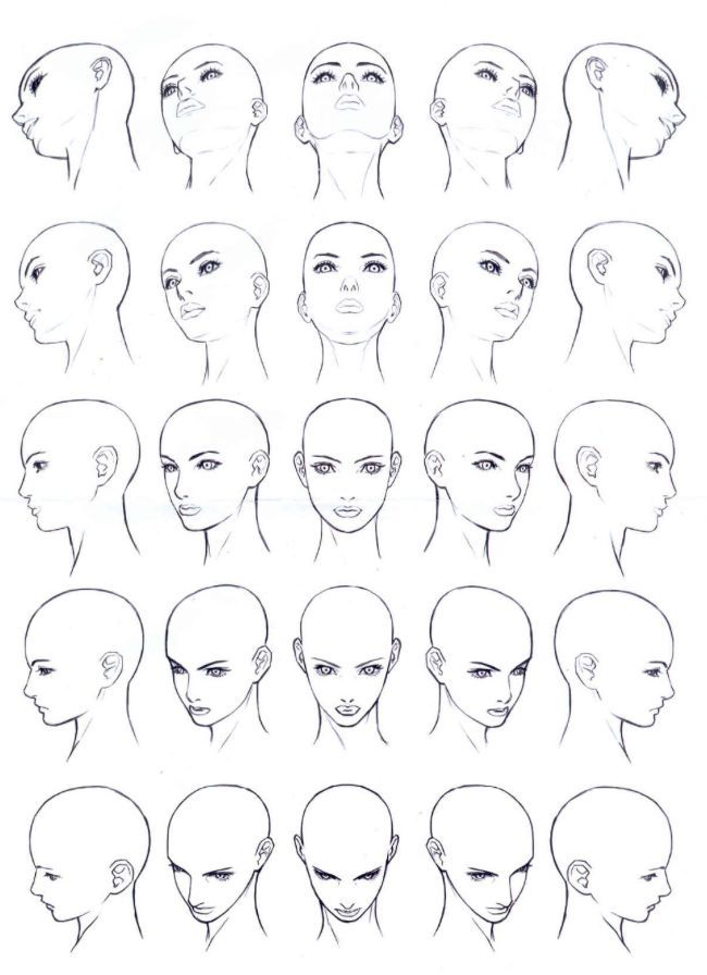 Drawing Faces Angles In 2020 Face Drawing Reference Drawing Tutorial Face Face Drawing