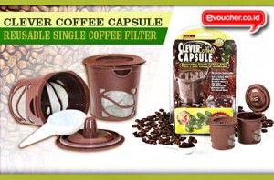 Clever Coffee Capsule Untuk Anda Pecinta Kopi Yang Menggunakan Mesin Pembuat Kopi Hanya Dengan Rp. 45.000 - www.evoucher.co.id #Promo #Diskon #Jual  Klik > http://www.evoucher.co.id/deal/Clever-Coffee-Capsule-  Cafe Cup ini berfungsi untuk anda pecinta kopi yang menggunakan mesin pembuat kopi, bisa digunakan berulangkali, lebih hemat dan membantu mengurangi sampah di bumi tercinta ini..  Pengiriman mulai tanggal 2014-01-25