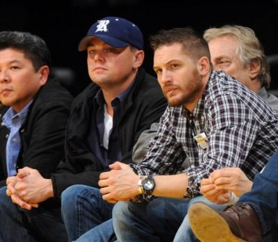 tom hardy and leonardo dicaprio...wouldn't mind being in this sandwich!!