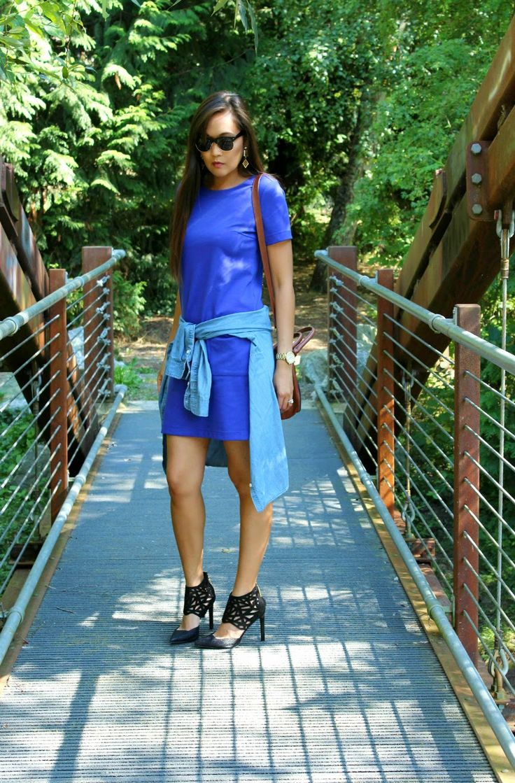 MY SININA: gap cobalt shift dress
