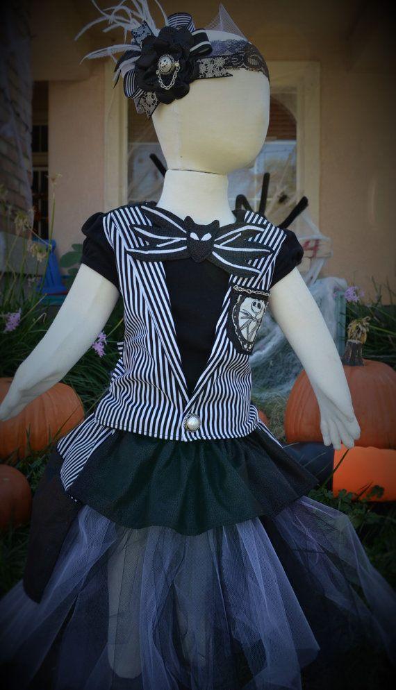 Jack Skellington Girls Costume Nightmare Before xmas by caeseone