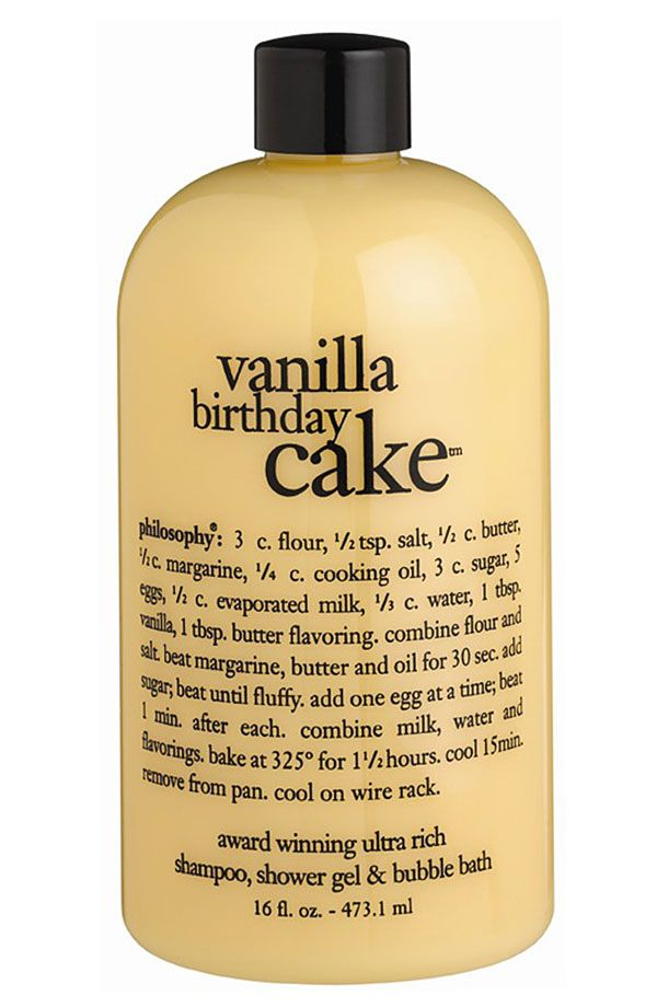 Yummy Philosophy Vanilla Birthday Cake Shampoo Shower Gel And Bubble Bath
