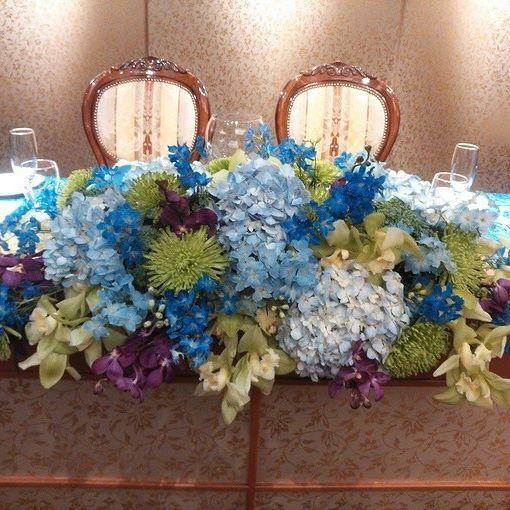 *  サムシングブルーのメインテーブルコーディネート  古都 鎌倉らしい紫陽花を取り入れるとさらに湘南の夏らしいコーディネートに♪  #KOTOWA鎌倉鶴ヶ岡会館#KOTOWA#鎌倉#鶴ヶ岡会館#結婚式#和婚#和婚をもっと盛り上げたい#和装#神前式#プレ花嫁#披露宴#オリジナル#おもてなし#ブライダルフェア#サムシングブルー#メインテーブル#高砂#高砂装花#dearswedding#junebride