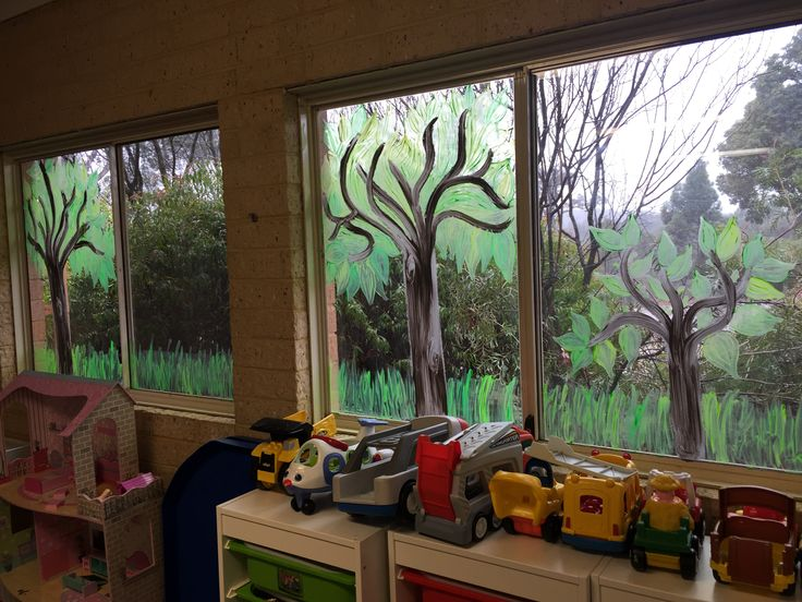 Australian bush classroom theme-gumtrees and grass