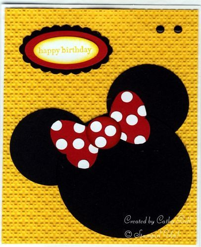PunchMinnieMouse062310: Punch Art Cards, Scrapbook Cards, Cards Ideas, Art Blog, Kids Cards, Birthday Cards, Circles Punch, Paper Crafts, Disney Cards