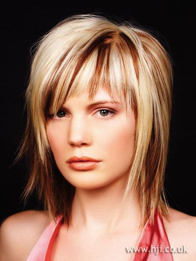 pics of choppy layered hairstyles | 2005 choppy streaks Hair Style Picture - qhs27173