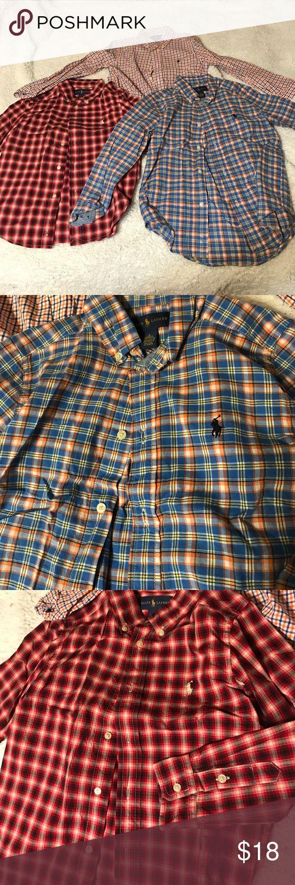 Ralph Laurn kids button down 3 shirts long sleeve Lauren Ralph Lauren Shirts & Tops Button Down Shirts