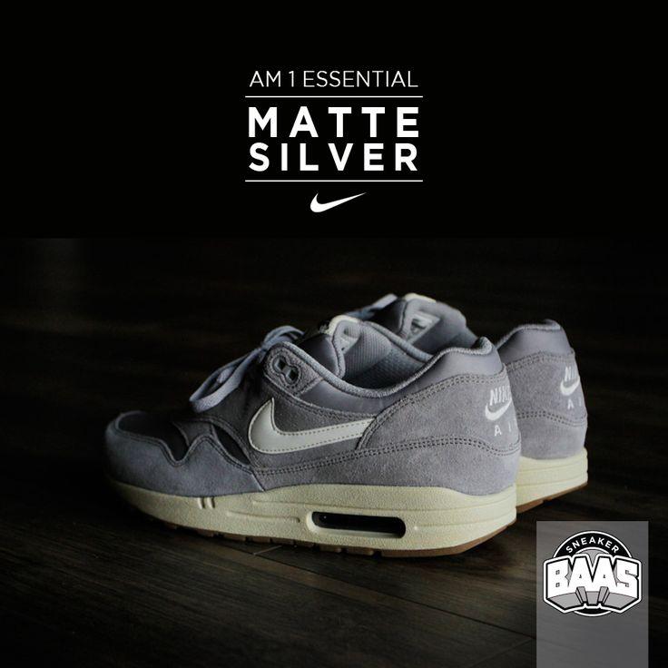 "Nike AM1 Essential ""Matte Silver""   Now in stock!   www.sneakerbaas.nl   #nike #am1 #essential #fresh"