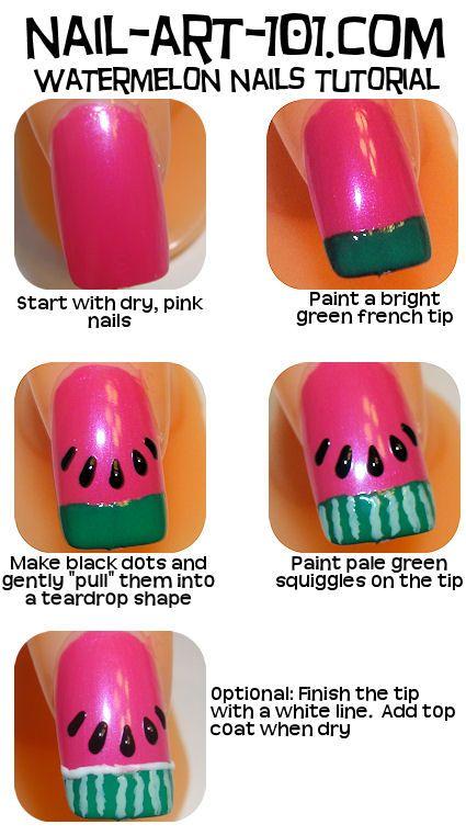 How to: Watermelon nails :) so nikki