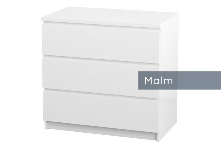 Malm #chest of #drawers // Malm #Kommode von #Ikea