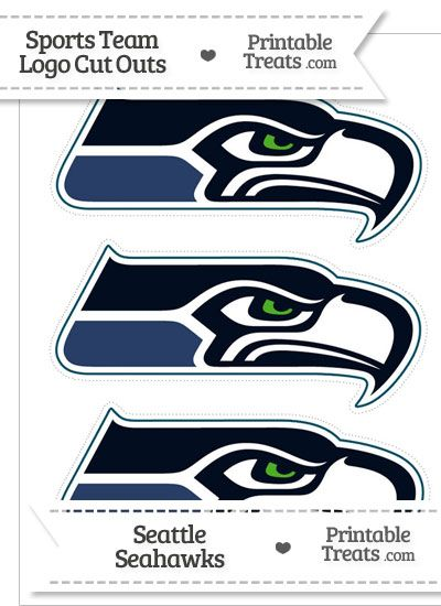 Medium Seattle Seahawks Logo Cut Outs from PrintableTreats.com