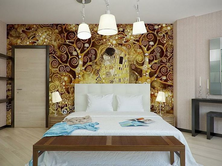 have always been a klimt fan and do have 3 prints that are always in my bedroom love the gold brown white bedroom scheme and the kiss is a fav of mine - Brown And White Bedroom Ideas