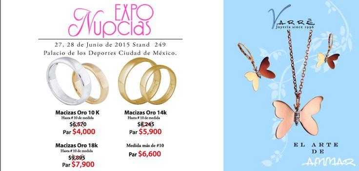 Expo Nupcias...Junio ♥♥♥ Te esperamos en Expo Nupcias 2015, en el Stand 249 este 27 y 28 de Junio. Argollas de Matrimonio desde $4,500 pesos. Joyería de Platino & Diamante / Argollas de Matrimonio Oro & Platino / Anillos de Compromiso Platino & Diamante / Churumbelas... #junio #díadelpapa #matrimonio #expotuboda #eshoradecompartir #momentos #sábado #yonovia #joyería #amor