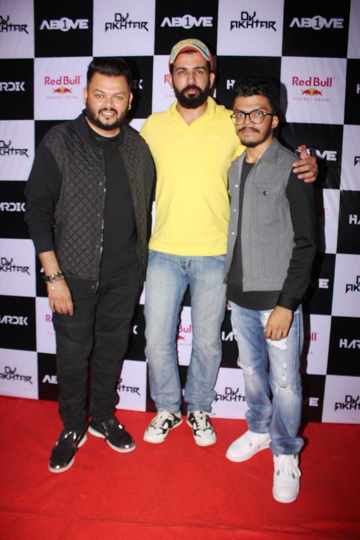 DJ Akhtar, Jay Bhanushali and DJ Hardik