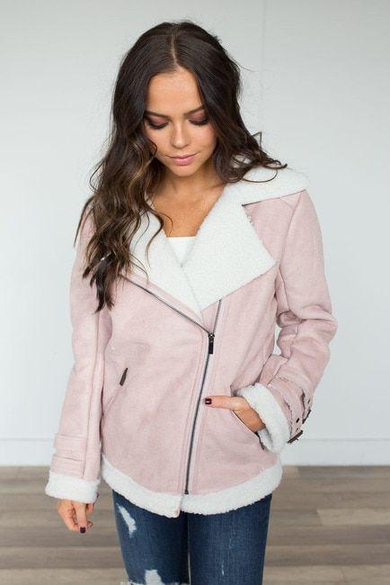 Snowbound Faux Fur Jacket - Light Pink - FINAL SALE