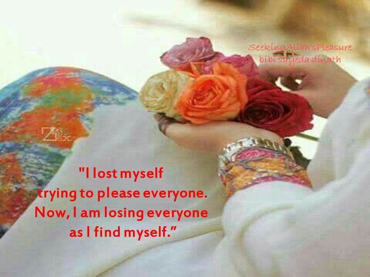 I lost myself trying to please everyone .  Now, I am losing everyone  as I find myself