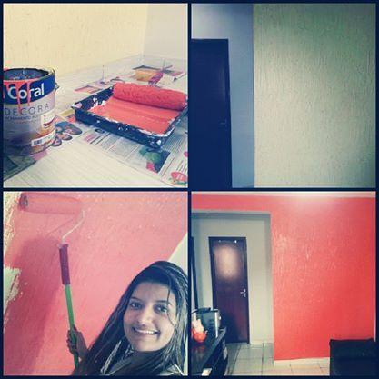 pintada por mim.#sala#house#coral#designinteriores#umdiachegolá