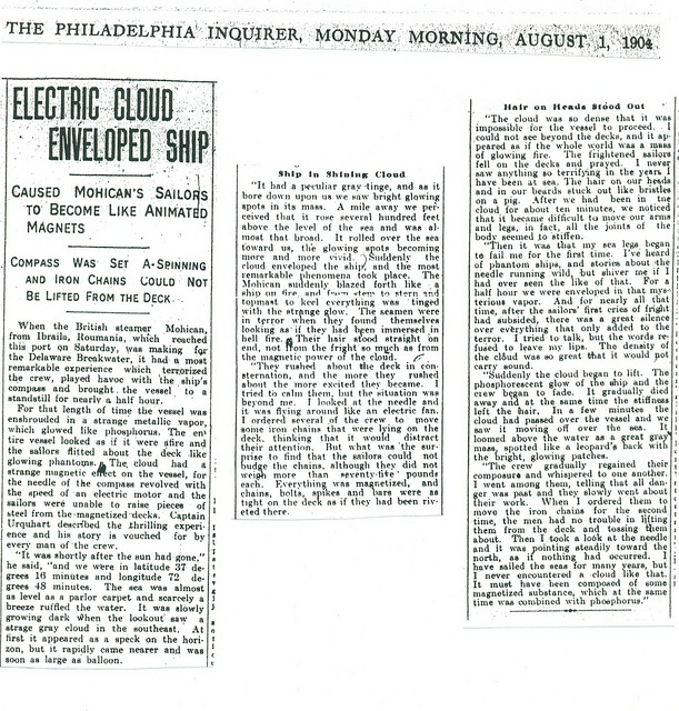 August 1, 1904 Philadelphia Inquirer article about the Mohican by Robert Goerman, via Flickr