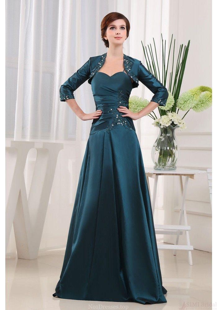 Mermaid Prom Dresses-A-line Sweetheart-neck Floor-length Taffeta Mother of the Bride Dresses