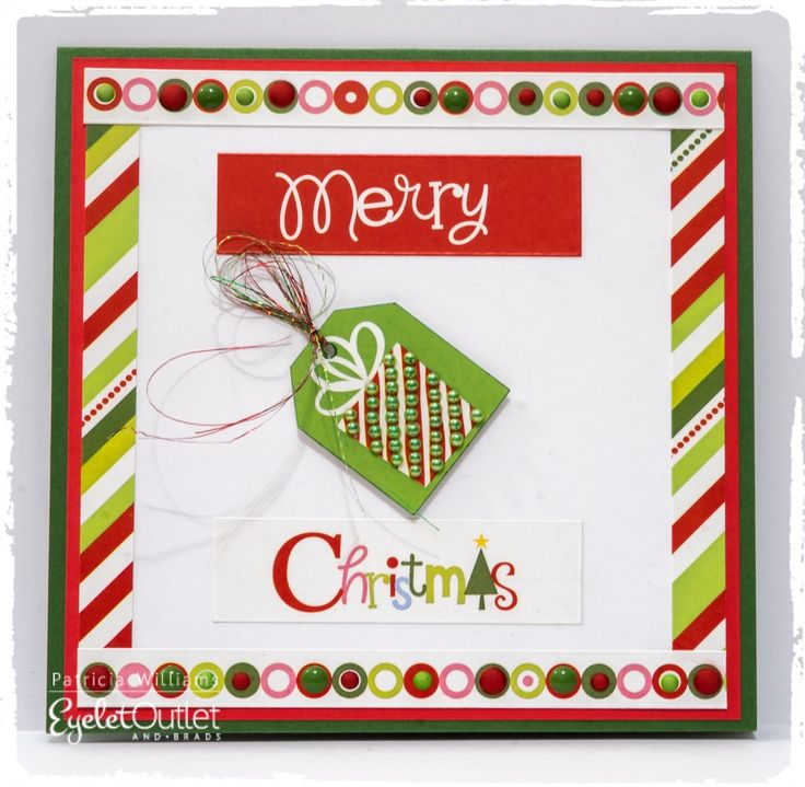 Merry & Bright! An Eyelet Outlet Christmas Card #eyeletoutlet #christmas #cards #papercrafts #christmascards