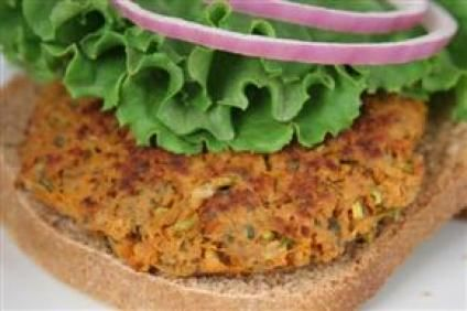 Textured Vegetable Protein Burgers Recipe - Bob's Red Mill Makes 4 burgers/servings. 4 WW pp per serving (does not count bun)