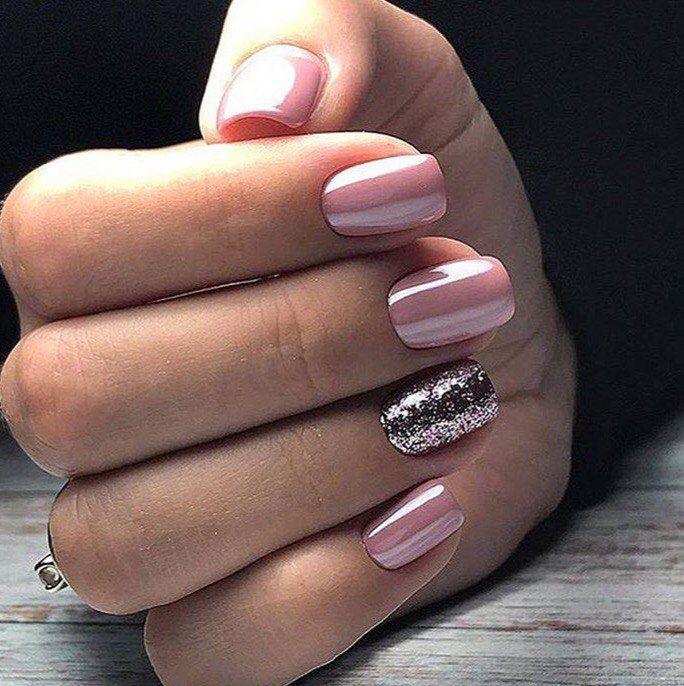 Картинки ногти втирка розовая
