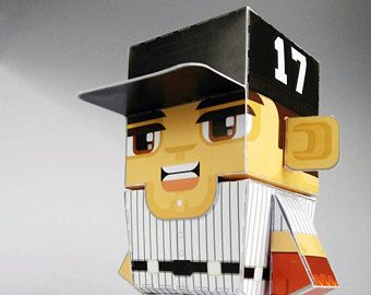 Paper Toy Craft Activity RED Baseball  – Super DIY kids craft gift for boys and girls, makes a great sports party craft activity