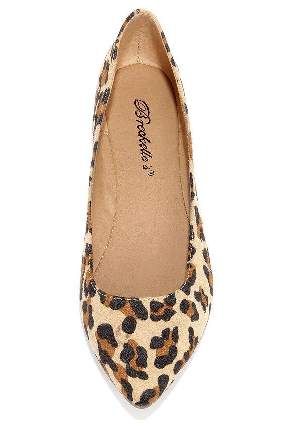 Low and Behold Leopard Suede Pointed Flats