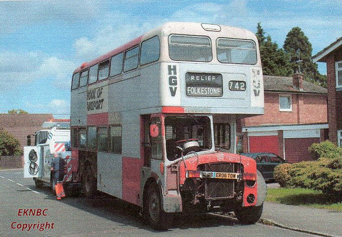 Lovely Print Of East Kent Leyland TD4 Buses