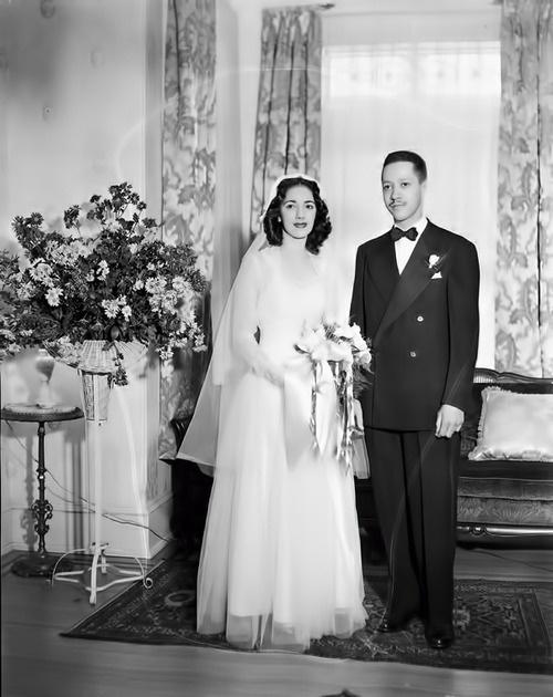 Vintage Wedding 1940 S 1945 African American