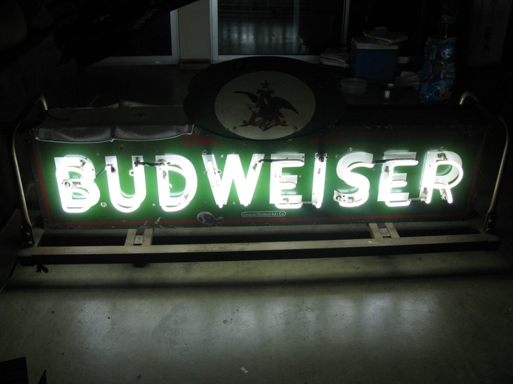 Budweiser Porcelain Sign Antique 1930 S Anheuser Busch
