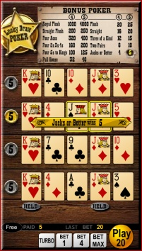 WagerWorks online casino Lucky Draw Video Poker