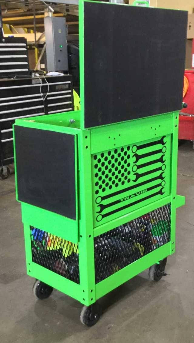 Harbor Freight U S General Tool Cart Customization Tool Cart Tool Box Storage Harbor Freight Tools