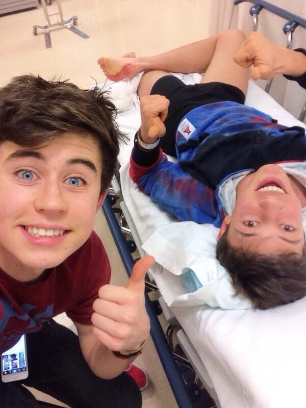 """magcon boys imagines   Nash Grier on Twitter: """"13 stitches later @CameronDallas http://t ..."""