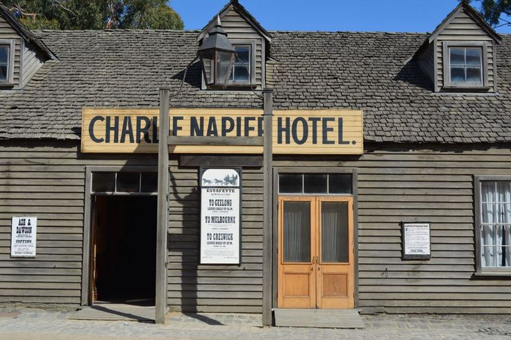 Just one of the businesses that line the main street at Sovereign Hill, Ballarat
