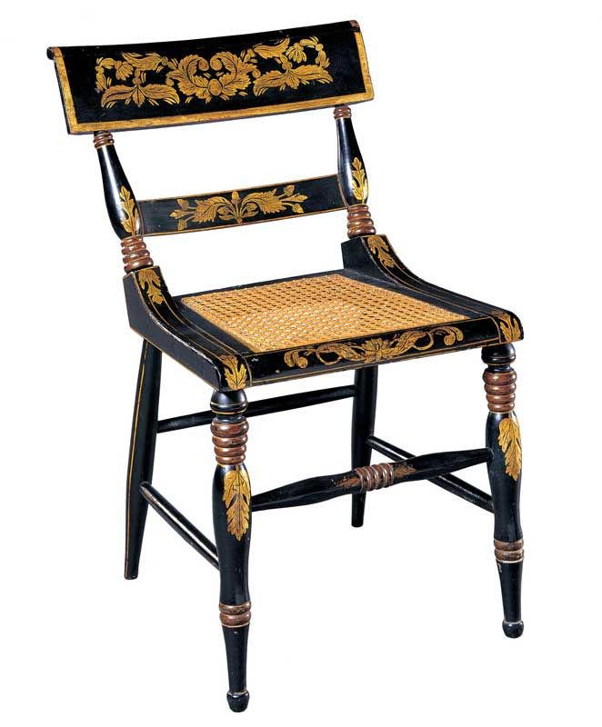 American Federal Paint-Decorated Fancy Side Chair - Baltimore, Maryland -  Circa 1820. Antique ChairsAntique ... - 50 Best Fancy Chairs Images On Pinterest 19th Century, Antique