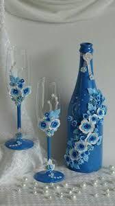 Resultado de imagen para copas decoradas para casamiento por civil
