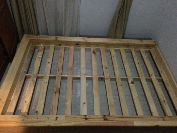 DIY single bed frame for guest bedroom designed and created by Ardiman Ganie