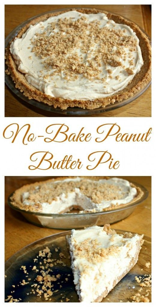 No-Bake Peanut Butter Pie from Clever Housewife.