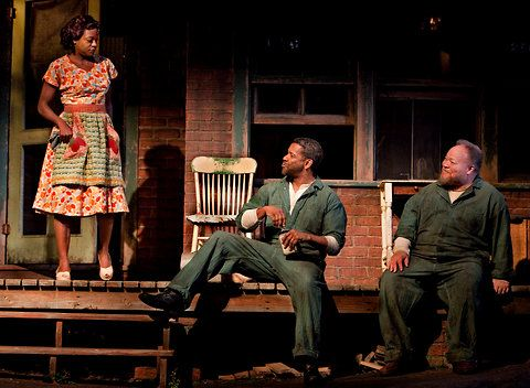 From left, Viola Davis, Denzel Washington and Stephen McKinley Henderson in a 2010 production of