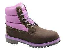 Timberland Tree 6 Inch Quilt Junior Kids Lace Up Leather Boots 6490R D115