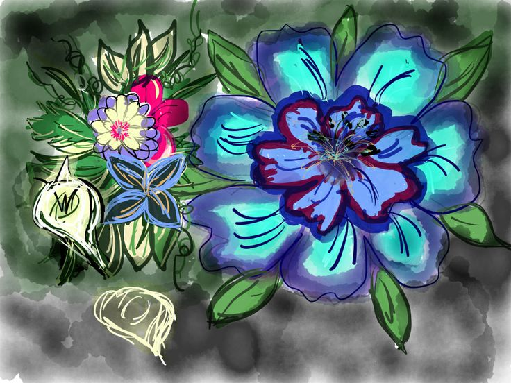Flowers drawn by me