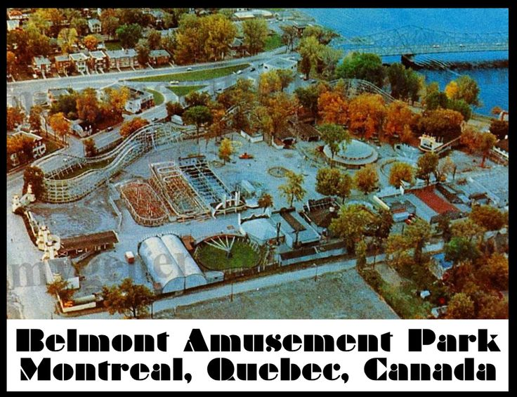 Belmont Amusement Park Poster – Montreal Quebec Canada by MyGenerationShop on Etsy