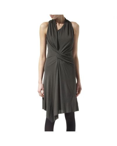 Helmut lang Multi Tuck Dress in Gray (multi) | Lyst