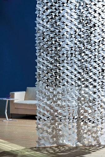Energy polyethylene-cotton blend in white by Création Baumann, through Carnegie, 516-678-6770; carnegiefabrics.com.